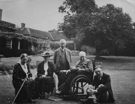 Lord and Lady Warrington with friends at Clyffe Hall, Market Lavington