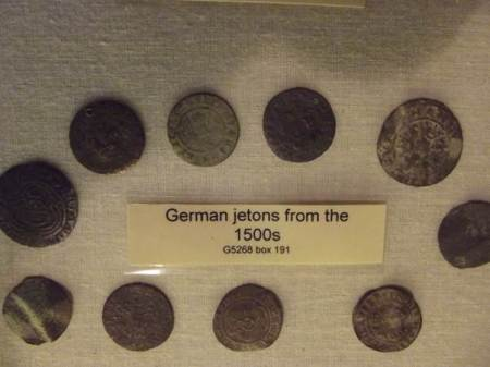 What it says on the label - German Jetons from the 1500s