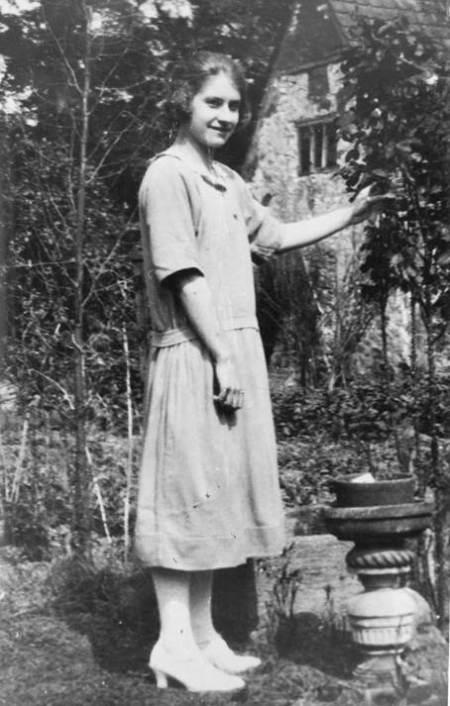 Flo Burbidge at a Knapp Farm cottage in the 1920s