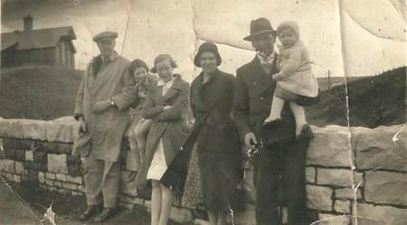Davis and Huish families - about 1935