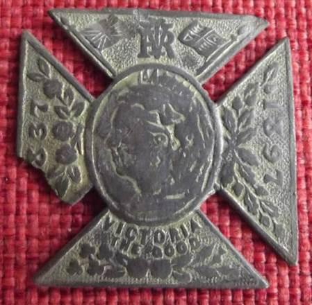 Queen Victoria Diamond Jubilee Medallion found on the old Recreation Ground in Market Lavington