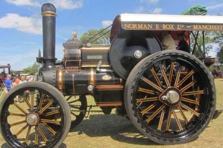 Former Norman Box traction engine photographed at a rally in 2015