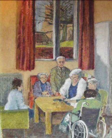 Norman Miller painting of The Day Centre - 1987