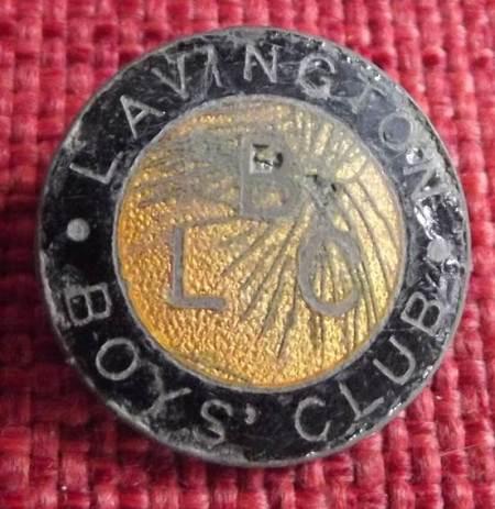 Lavington Boys' Club badge found on the old Recreation Ground