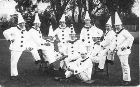 A Pierrot troupe - but who are they? Where are they? When was this taken?