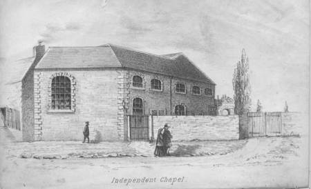 Illustration of the Independent Chapel from Henry Atley's 1855 book.