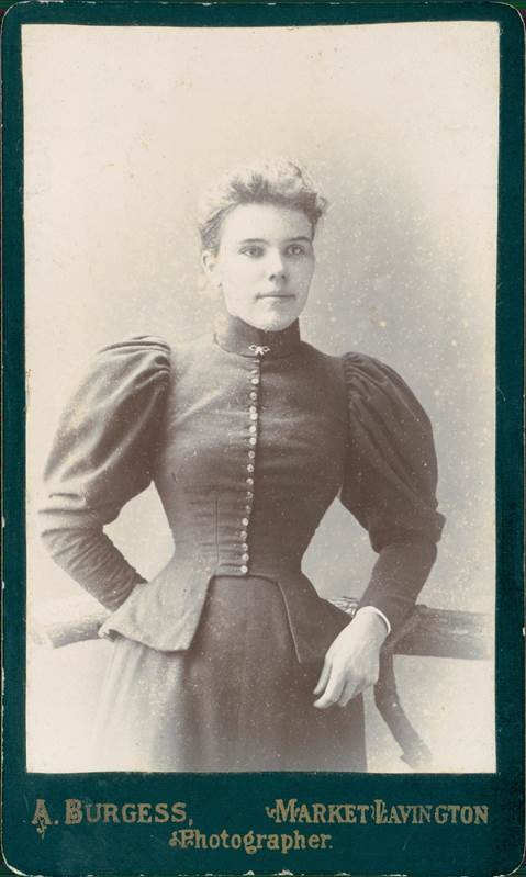 This Photo Of A Young Lady May Date From About 1900