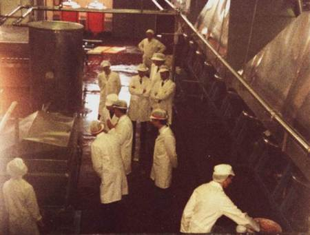 Princess Anne is shown round the jam factory on 30th April 1985