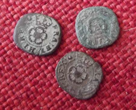 Rose farthings found on 'the rec' in Market Lavington