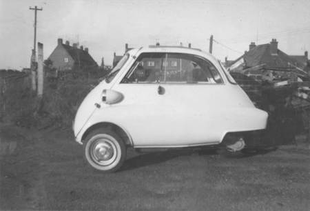 A bubble car at Northbrook in the 1950s