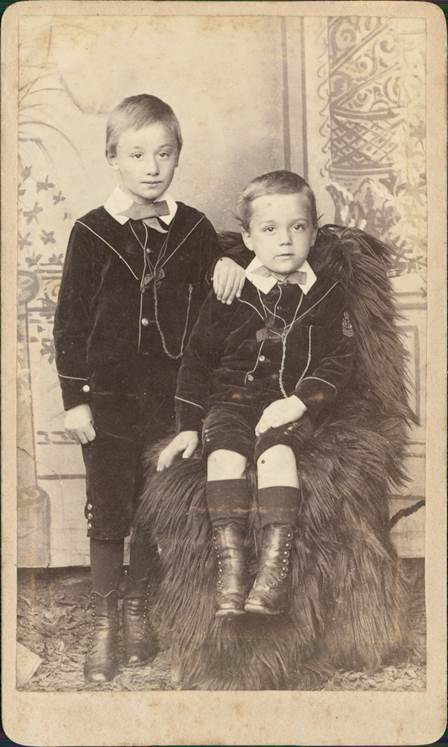 Two young lads - possibly from the 1890s