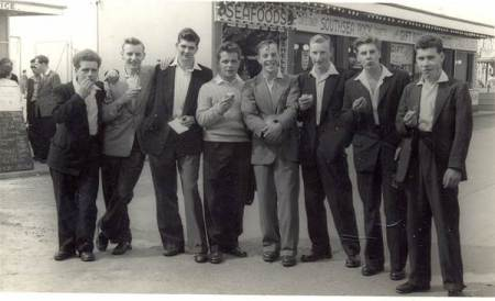 Market Lavington and Easterton lads in Southsea in the 1950s