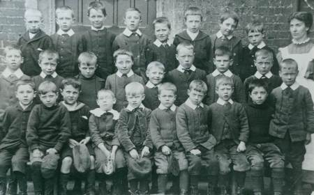 Market Lavington School boys in 1905