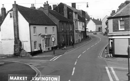 Along Market Lavington High Street in the 1960s