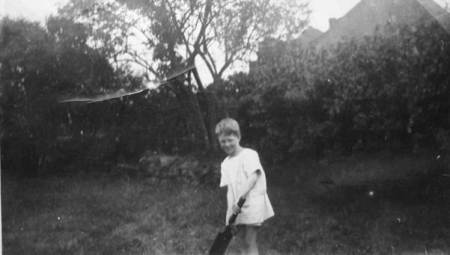Tom George in the garden of the brickworks house in 1927