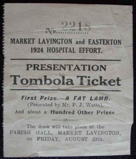 1924 draw ticket