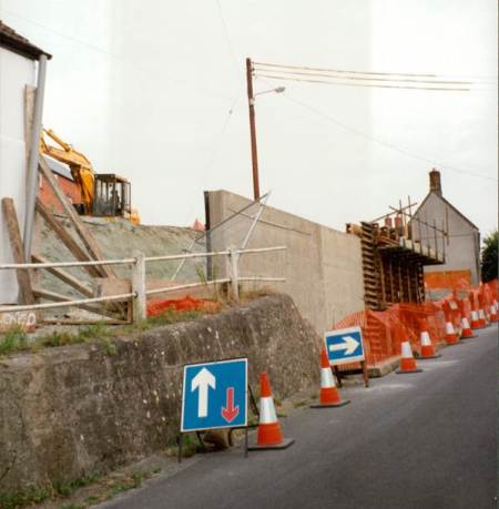 Building the retaining wall and improving the Northbrook footpath in 1993