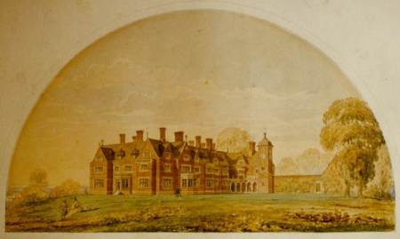 An Architectural Perspective of Market Lavington Manor - possibly by Axel Herman Haig - 1867