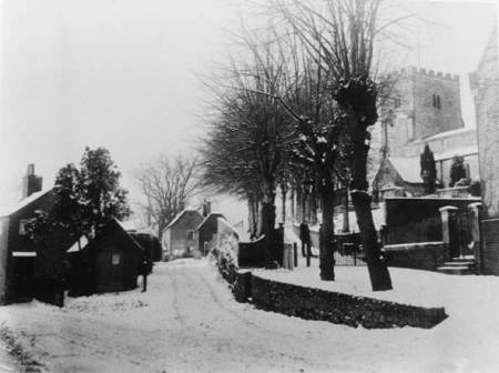 Snow at St Mary's Church in 1897