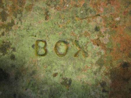 The brick was made by Box who had Lavington brick works for the second half of the nineteenth century