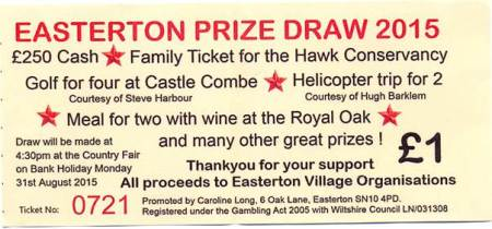 2015 draw ticket
