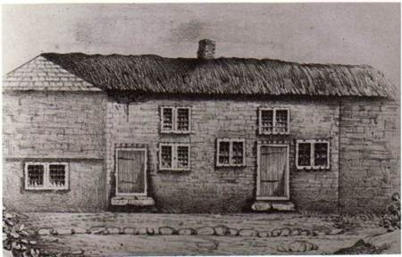 Cottages on Parsonage Lane - a mid 19th century sketch