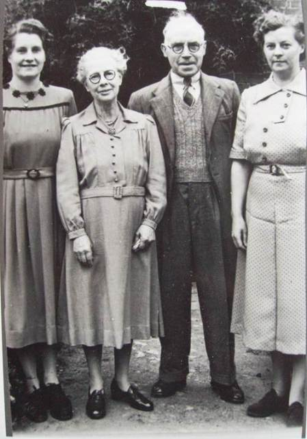 The Burbidge family at home