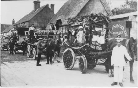 Carnival line up in Easterton - 1920s
