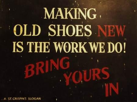Sign from Ken Mundy's shoe shop on High Street, market Lavington