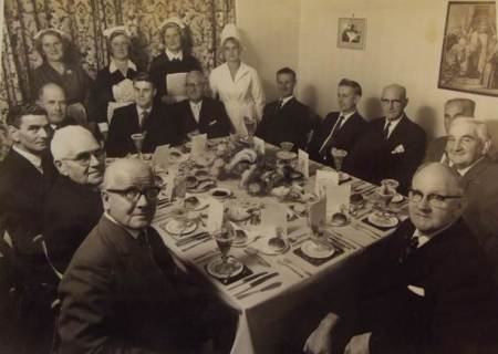 Diner treat for Congregational men in about 1965-70
