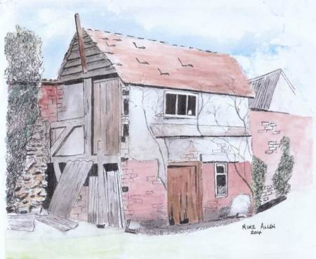 The Old Bakehouse at Easterton - a painting by Mike Allen