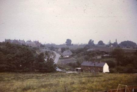 This was the view from Market Place houses before Bouverie Drive was built