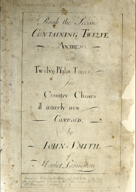 Music from the 1740s by John Smith of Market Lavington