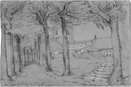 1837 church sketch by Philip Wynell Mayow