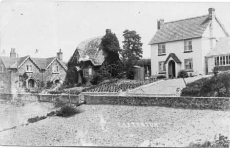 Houses opposite Easterton Church in 1919