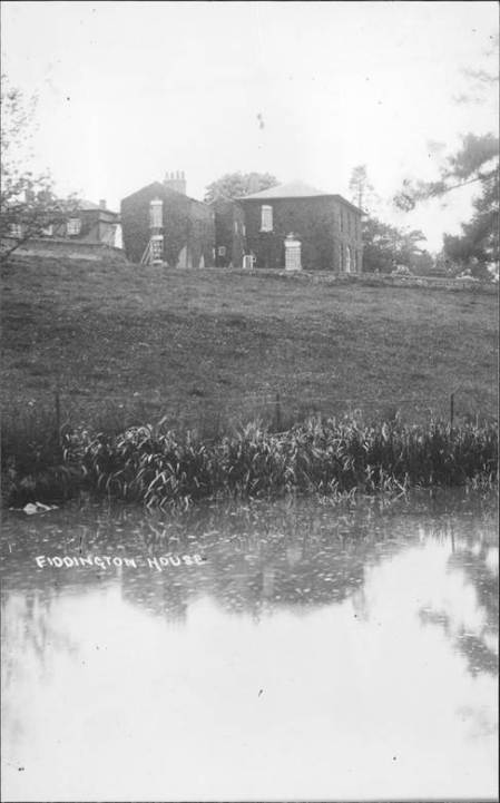 Fiddington House and grounds - early 20th century