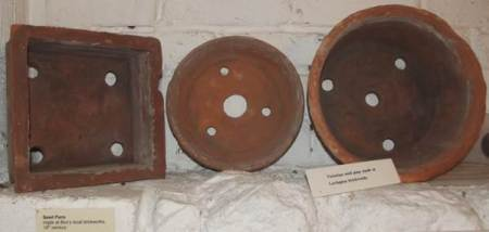 Victorian seed pans at Market Lavington Museum