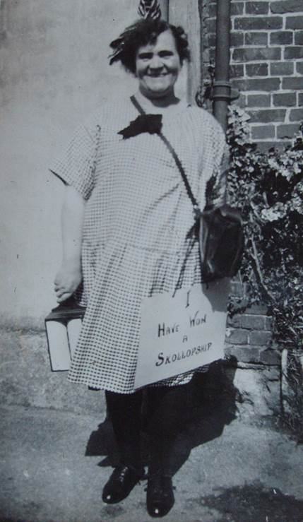 Mabel Sayer dressed up for the 1931 Hospital Week in Market Lavington and Easterton