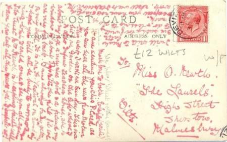 Postcard sent in Septemaber 1919