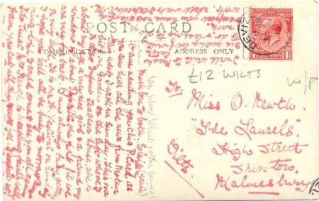 Postcard sent in Septemaber 1919
