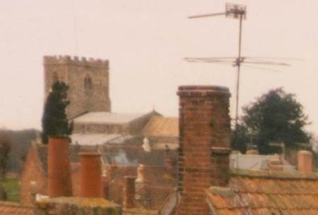 St Mary's Church and chimneys