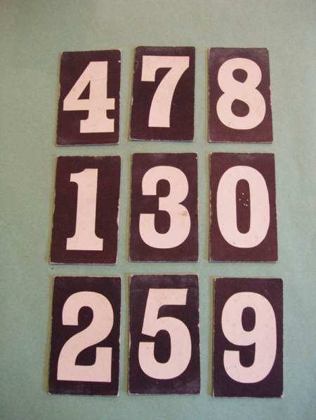 Display hymn numbers from the former Congregational Church in Market Lavington