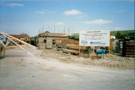 Sarum Heights under construction in 1988
