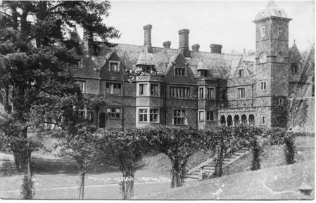Market Lavington Manor on a card posted in 1917
