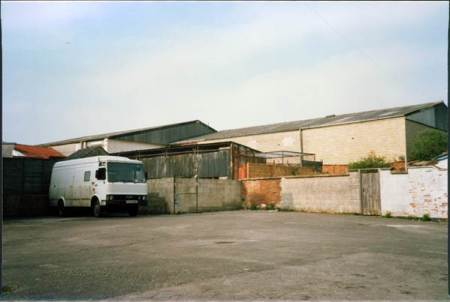 Similar view - 1988. The old Tudor buildings are now a derelict parking lot