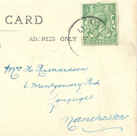Postmark - enough to guess at and addressee