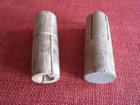 Could these mystery items, found under the floorboards at 21 Church Street, be wall plugs?