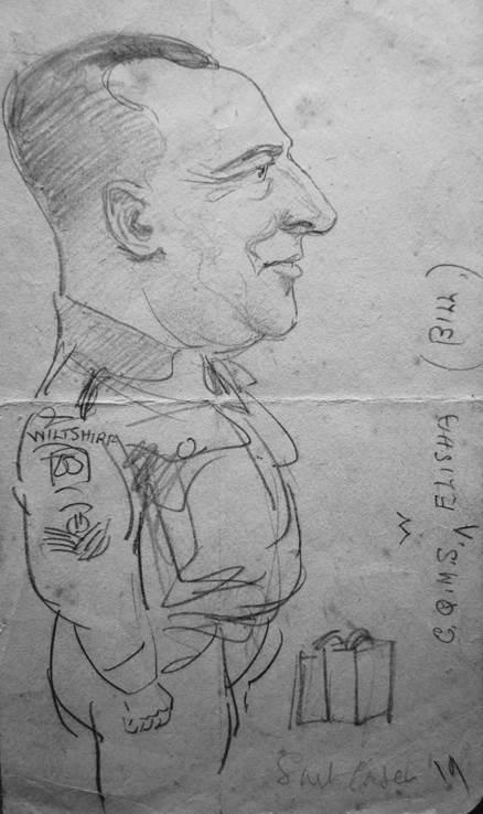 A 1944 sketch of Bill Elisha