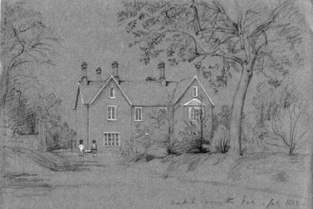 Market Lavington Vicarage - an 1848 sketch