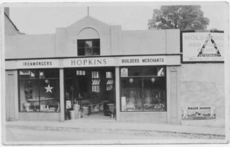 The Hopkins shop in the 1930s. This stood where Milsom Court is now.